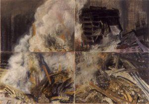Susan Crile Ravaged (Four Panels)