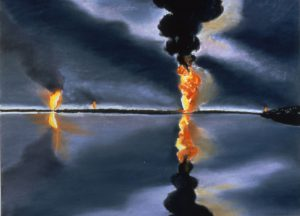 Susan Crile Oil Fires Reflected