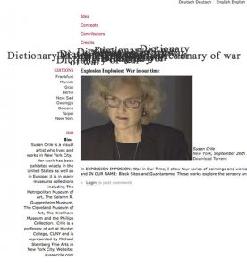 Susan Crile Explosion Implosion: War in Our Time