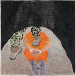 Susan Crile Guantanomo Soilder Stomping on Prisoner