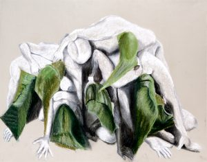 Susan Crile Naked, Piled, Hooded Prisoners; Flesh to Flesh